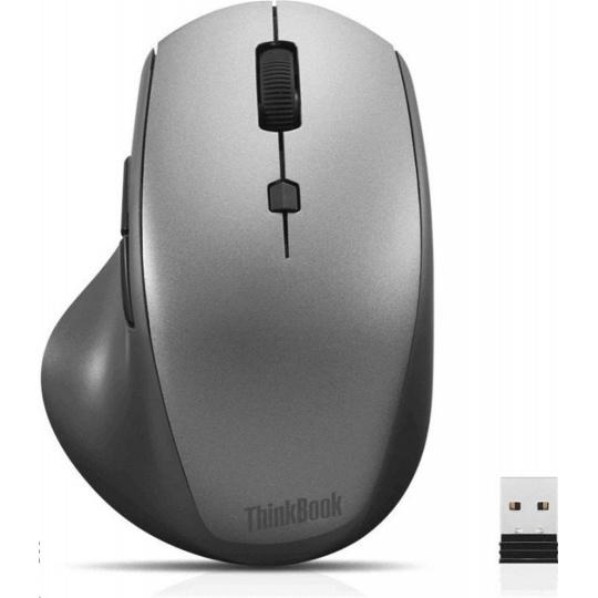 LENOVO myš bezdrátová ThinkBook 600 Wireless Media Mouse - 2400dpi, Optical, 2.4Ghz, 7 tlačítek