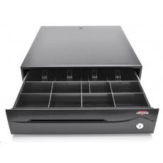 Virtuos pokladničná zásuvka C420B-RJ10P10C, 12V / 24V, bez kábla, čierna