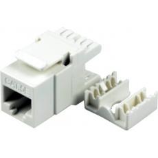 Keystone Cat5E, UTP, duální svorkovnice, bílý