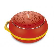 GENIUS repro SP-906BT R2, 3W, Bluetooth 4.1, dobíjecí, červené