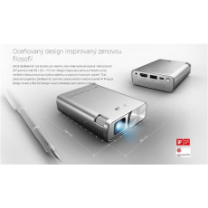 ASUS PROJEKTOR LED - ZenBeam E1 - 854x480, 150lum, HDMI, USB-dobíjení, MHL, 0.5-5m, 0.5kg, 83x29x109mm,