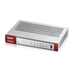 Zyxel USG20-VPN Firewall, 10x VPN (IPSec/L2TP), 5x SSL, 1x WAN, 1x SFP, 4x LAN/DMZ, 1x USB port