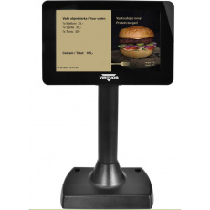 """Virtuos 7"""" LCD barevný zákaznický displej Virtuos SD700F, USB, černý"""